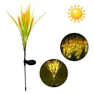 Solar Power Wheat Flower LED Lights Garden Stake Lamp Yard Outdoor Decor A