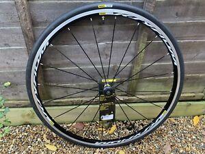 Mavic Ksyrium Black Front Wheel with Yksion Elite Tyre, Rim Brake 700