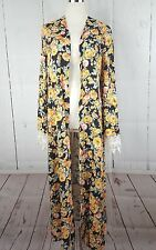 NWT LOVE FIRE FLORAL KIMONO FULL LENGTH DUSTER LACE SLEEVE M /L
