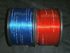 8 GAUGE SPEAKER WIRE 50 FT RED BLUE CABLE AWG STEREO CAR HOME MONSTER SUBS