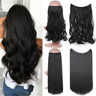 Secret Thread Wire Hair Extensions Invisible Curly Thick One Piece Long as Human