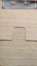 Natural rosa cotone seta 2 Pezzi Tappetino Da Bagno E Piedistallo Set Lusso Accessorio Set