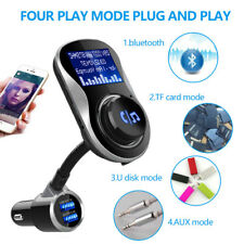Bluetooth Car FM Transmitter Audio Adapter Handsfree Voltmeter Wireles Radio Kit