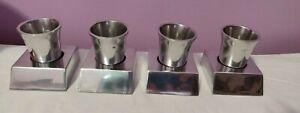 NIB MICHAEL ARAM 3 in 1 Vintage Set of 4 Place Markers card vase candle salt