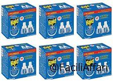 12 Ricariche RAID LIQUIDO Ricarica Diffusore Elettrico zanzare tigre e comuni