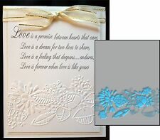WHISPER Embossing Folder -Craft Concepts embossing folders border,leaves,wedding