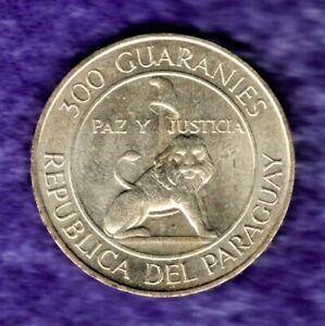 1973 PARAGUAY 300 GUARANIES LARGE SILVER CROWN BRITE CHOICE/GEM MINT STATE BU*NR