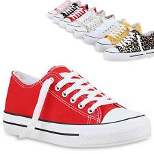 Damen Plateau Sneaker Turnschuhe Schnürer Basic Plateauschuhe 825911 Trendy