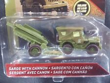 DISNEY PIXAR CARS SARGE WITH HOWITZER CANNON RADIATOR SPRINGS DELUXE 2018 SAVE 5