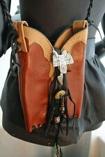 Upcycled Cowboy Boot Shoulder Bag Sterling Bolo Turquoise 2