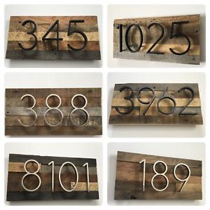 Custom Rustic Address Plaque - House Numbers, Address Sign, Reclaimed Wood Decor