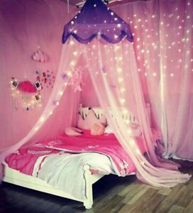 Princess Canopy Bed Curtain Mosquito Net for Girls Boys Kids Bedroom Decoration
