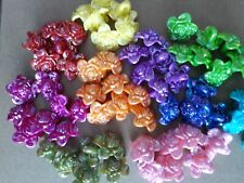 Acrylic Shank Buttons, Roses, 9 Colours avail.17mm long, hole, Fast Delivery