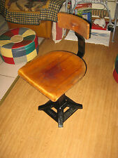 SINGER TREADLE CAST IRON /METAL /WOOD SEWING MACHINE ADJUSTABLE CHAIR / STOOL