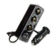 3/4 USB MULTI SOCKET CAR CIGARETTE LIGHTER SPLITTER ADAPTER CHARGER DC 12/24V