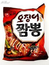 Nongshim Korean Squid Jjambbong Seafood Noodle Hot Spicy (1,3, 5 Pcs)