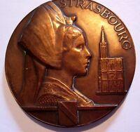 STRASBOURG / ELZAS / COLMAR BY MORLON / Bronze Medal / 68 mm / N126