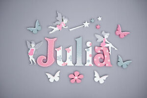 3D wall letters personalised alphabet name customised wall decors hand painted