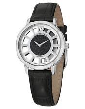 Stuhrling 388LS 02 Lady Edinburgh Date Black Swiss Quartz Leather Womens Watch