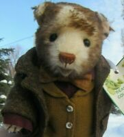 VINTAGE MOHAIR TEDDY BEAR ANIMAL DRESSED MOUSE ARTIST MICHELE BROWN COLLECTABLES