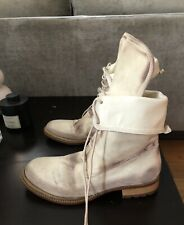 Patrizia Pepe bone combat boots Suede leather 39 Ann demeulemeester Guidi