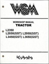 Kubota L2350,L2650 (GST),L2950,L3450,L3650 (GST) Tractor Workshop Service Manual