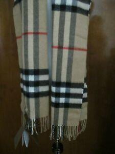 Burberry Classic Check Cashmere Scarf Camel