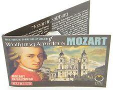Österreich 5 Euro 2006 Mozart Silber im Miniblister Sonderedition 5€ vergoldet