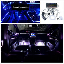 RGB LED 64 Colors DIY Fiber Optic Car Interior Decor Ambient Light APP Control