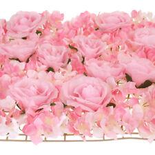 Artificial Silk Hydrangea Rose Flower Mat, Pink, 24-Inch
