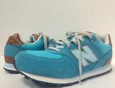 New New Balance KL574U9G Youth 6.5Y Admiral Crusin Blue Brown Classic Sneaker