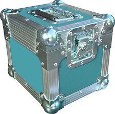 "7"" Single 100 Swan Flight Case Vinyl Record Box (Turquoise Rigid PVC)"