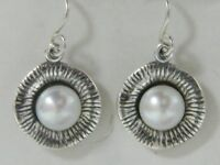 925 Earrings SHABLOOL fresh water pearls White drop Style Sterling Silver Didae