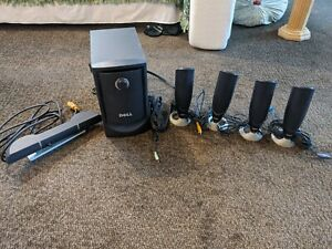 Used Dell MMS 5650 Surround Sound PC Speakers System complete system