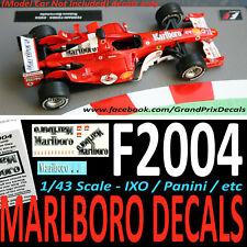 Formula F1 Car Collection water slide DECALS Marlboro Ferrari F2004 BARRICHELLO