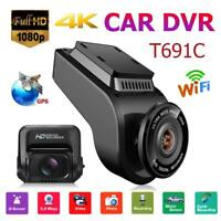 T691C 2 Inch 4K 2160P/1080P FHD Dash Cam 170° Dual Lens Car DVR Camera Recorder