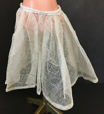 Vintage Off White Large Doll Mesh Skirt Petticoat