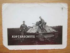 Altes Foto Panzer Attrappe 2. WK