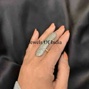 Handmade victorian Jewelry Natural Rose Cut Diamond & 925 Sterling Silver Ring