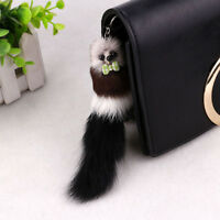 Animal Ornaments Keychain Bag Pendant Key Ring Rabbit Fur