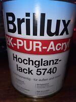 1 KG Brillux 2 K-Pur Acryl  Hochglanzlack   5740 Farbton Ral 1014 Elfenbein
