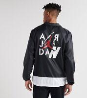 Nike AIR Jordan Legacy Men's Coaches Jacket Black CI0253 010 2XL NEW MSRP $125