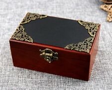 Vintage Rectangle Black Cover Wind Up Music Box   ♫ MARY HAD A LITTLE LAMB ♫