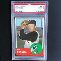 1963 Topps Roy Face #409 💥 PSA Mint 9 💥 Highest Graded! 1 of Only 16