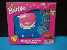 Mattel Barbie Disc Girl CD Player Toy NOS BOXED