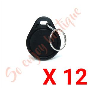 ROGER MFK-1 - Lot 12 Badges d'accès RFID de proximité MIFARE en PVC 13,56 MHz