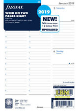 Filofax 2019 A5 size Diary - Week On Two Pages Appointment Refill 19-68521