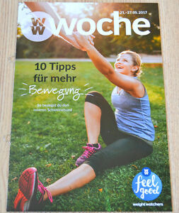 Weight Watchers Feel Good Woche 21.5 - 27.5 SmartPoints 2017 Wochenbroschüre NEU