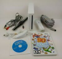 Nintendo Wii Console w/ Controller 2 Games Wii Sports + All Cables Bundle!