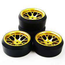 4Pcs RC Drift Tires Wheel Rims For HPI HSP Racing 1:10 On-Road Car DHG+PP0370